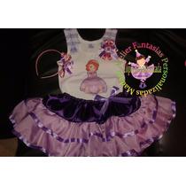 Vestido Fantasia Roupa Aniversário Luxo Princesa Sofia