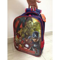 Mochila Infantil Escolar Vingadores Avengers Age Of Ultron