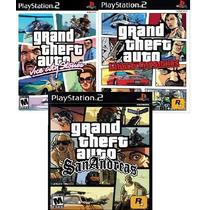 Jogos Gta Play Station 2 (kit 3 Jogos Ps2) Frete Grátis