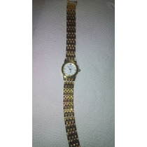Relógio Feminino Dourado Puceira Em Aço Inox