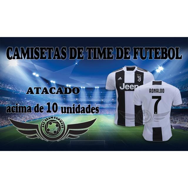 4b607c7afedb3 Kit 10 Camiseta Time Europeus Ou Brasileira 2018 Atacado em ...