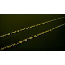 Cordão Fino Banhado A Ouro 18k Masculino 60 Cm