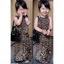 Vestido Importado De Criança (onça,oncinha) Pronta Entrega