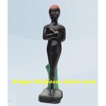 Linda Imagem Escultura Do Erê Saci Pererê 30cm Melhor Preço