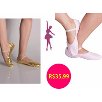 Roupa Ballet Infantil - Kit Sapatilha Rosa E Dourado!