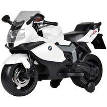 Moto Elétrica Bmw K1300 Infantil Branca Bandeirante 6v