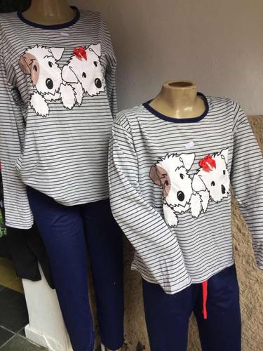 17caf0c32a850a Pijama Mãe E Filha Inverno Calça Blusa à venda em Olaria Nova ...