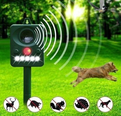 Repelente Animal Solar Ultrassom E Flash Eletronico Novo