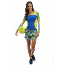 Shorts Hidra Jeans Brasíl Paetês Tam 38 E 40!!