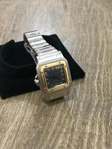 8033e415e99 Relógio Santos Cartier Aço E Ouro 18k (case 29mml)