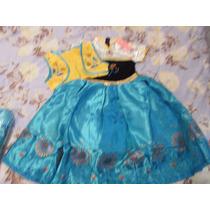 Fantasia Vestido Frozen Fever Elsa E Anna Pronta Entrega!!