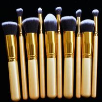 Kit 10 Pinceis Para Maquiagem Kabuki E Precisão = Sgm Mac