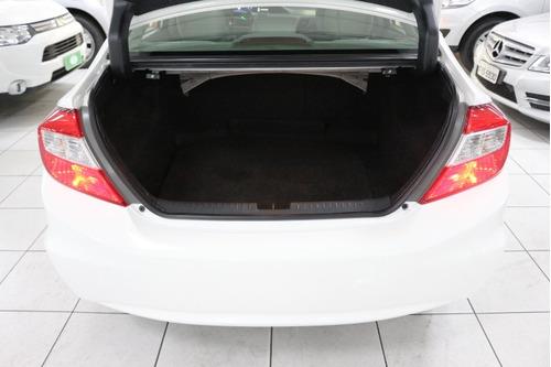 Honda Civic 2.0 Lxr Flex Aut. 2014 Branco * Único Dono *
