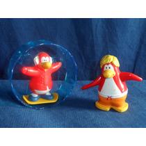 Lote 2 Bonecos Usados Club Penguin Da Disney De 2013 E 2015
