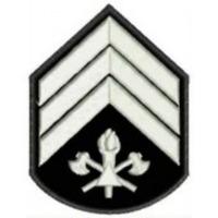 Divisa 3° Sargento  bordada - CBMMG - PAR