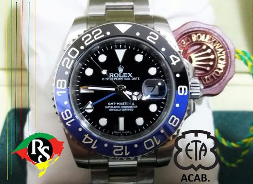 163c3e06efd Relogio Rolex Acab Eta Gmt Master Batman Ceramica Top Lxrs