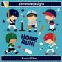 Kit Digital Baseball Esporte Time Meninos Imagens Cute Png