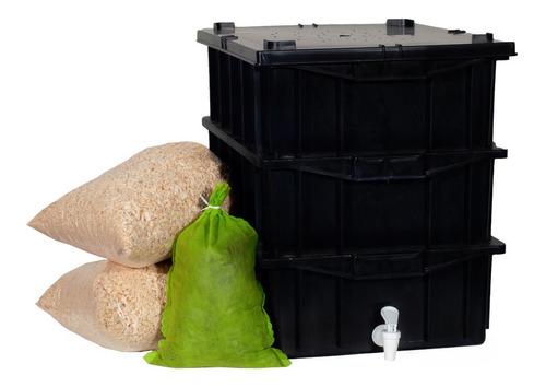 Caixa Para Compostagem Com Minhocas De Brinde Varais Cores