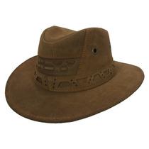 Chapéu Country Boiadeiro Cowboy Masculino Feminino Couro