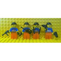 Lego City 4 Bonecos Quadrilha Ladrões Armados Frete Grátis!