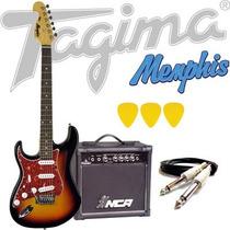 Kit Guitarra Tagima Memphis Mg32 + Acessórios - Sunburst Lh