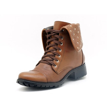 Bota Coturno Feminino Atron Shoes Brandy 7502
