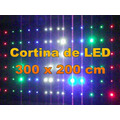 Cortina Led - 3,0 X 2,0 Mt - Lateral - 20 Efeitos - Abhsynto