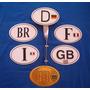 Emblema Br Com Suporte, Badge Touring
