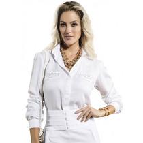 Blusa Da Moda Branca Básica Feminina Principessa Eliane