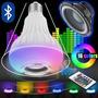 20 Lâmpada Led Music Bluetooth Rgb 7w Controle Remoto Bivolt