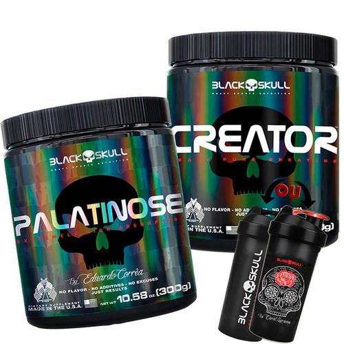 Creator 300g + Palatinose 300g - Black Skull + Brinde