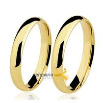 Par Alianças Ouro 18k - 6 Gramas 3,5mm Noivado E Casamento