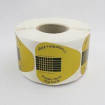 200 Moldes Adesivos Ouro Unhas Postiças Acrigel Porcelana