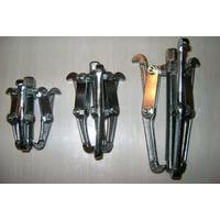 Kit Com 3 Sacas Polia Rolamentos 75mm 100mm 150mm 3garras