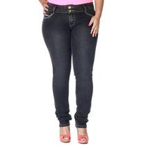 Calça Jeans Sawary Feminina Levanta Bumbum Skinny Plus Size