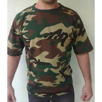 Camiseta Estampa Camuflada Esporte Camping Especial
