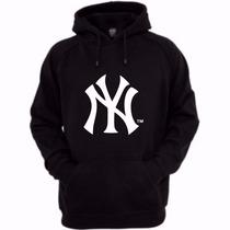 Moletom New York Yankees - Nyy - Baseball Capuz Canguru
