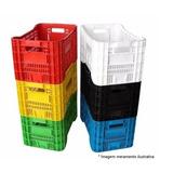 Caixa Plástica Agrícola Hortifruti Organizadora Colorida