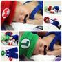 Conjunto Newborn Mario Ou Luigi Em Crochê Game Cosplay Bebê