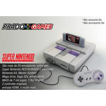 Snes, Super Nintendo Completo, Com Mais De 7.000jogos E Hdmi