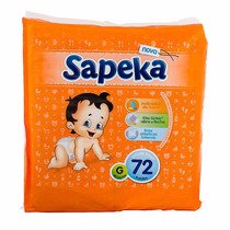 Fralda Sapeka Hiper G ( 72 Fraldas )