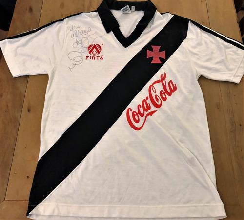 Camisa Do Vasco Usada Jogo 1989 Bebeto Autografada 32cb9db9c854c