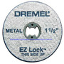 Kit 5 Discos De Corte Para Metal 1.1/2 - Ez456 - Dremel