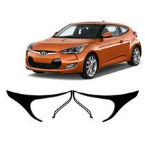 Kit Aplique Farol Mascara Negra Hyundai Veloster 2012 A 2014