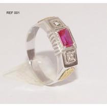 Anel De Formatura Prata 950k Emblemas Em Ouro 18k Ref 001