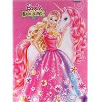 Caderno Brochurão Capa Dura Barbie 96 Fls - Kit C/ 5 Unid