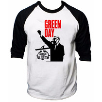 Camisa Raglan 3/4 Green Day American Idiot Rock Camiseta #3