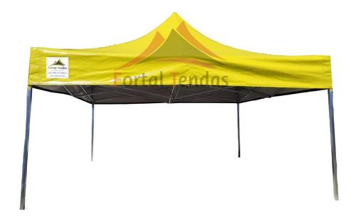 Tenda Sanfonada 3x3 Lona Pvc  Impermeável, Lona Resistente Superior Ao Nylon600 Diversas Cores