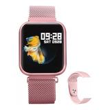 Relógio Smart Watch Oled Pro/ P70 C/ Duas Pulseiras-rose