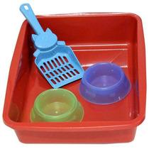 Kit Pronto Para Seu Gatinho Higiene E Arranhador 2x1